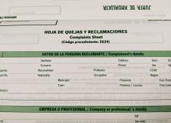 Nueva hoja de quejas y reclamaciones Junta de Andalucia